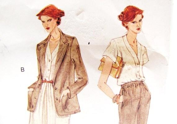 Vogue 1883, Anne Klein, 1970s designer pattern, bust 32.5