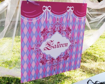 PRINCESS Printable Party Backdrop - you print