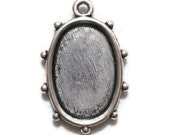 EIGHT Oval Photo Frame Pendant Oval Bezel Settings Oval Frame Pendants Antique Silver 18x25mm