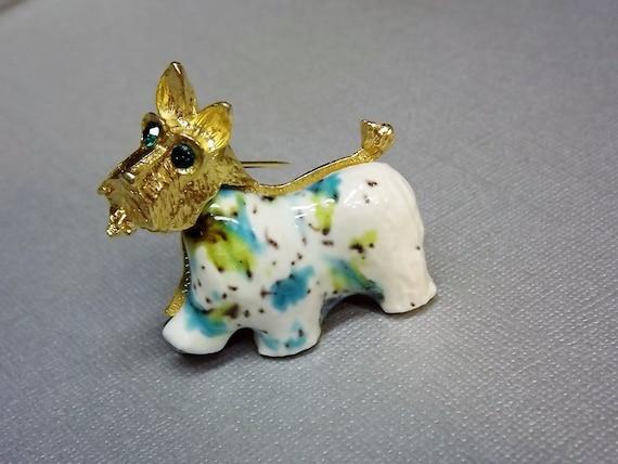 Brooch Scottie Terrier Figural Dog Vintage Jewelry