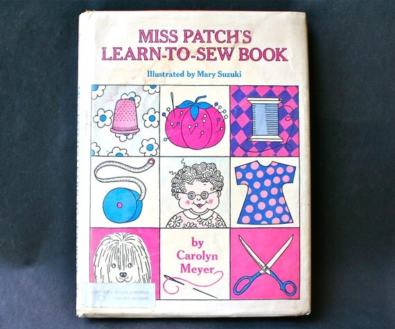 Learn To Sew Vintage Children's Sewing Book Crafts Illustrated Patterns Beginners