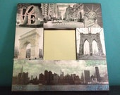 New York City Decoupage Glitter Mirror NYC