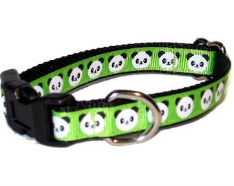"""1/2"""" Panda Small Dog Collar"""