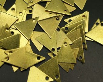 Triangle Necklace Charm, 300 Raw Brass Triangle Charms (10x9mm) Brs 424 A0047