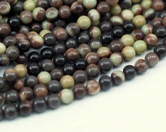 Banded Jasper 6 Mm  Gemstone Round Beads