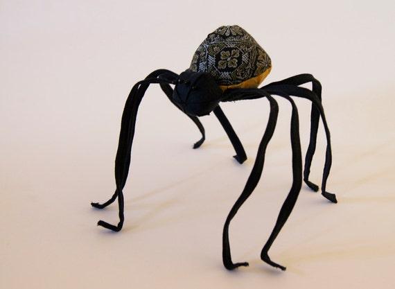 Soft Sculpture Fiber Art Textile Art Spider Arachnid Natural History Gift Nature Lover Gift Luxury Woodland Gift
