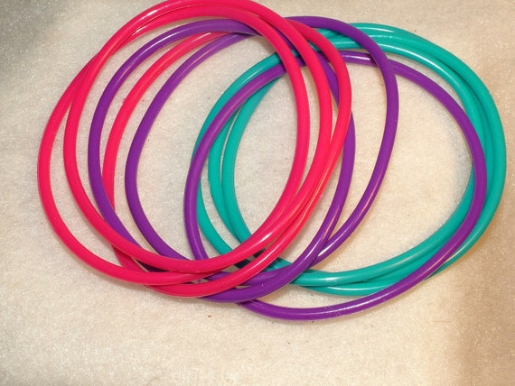 Set of 9 Rubber Bracelet Blanks to Add Charms or Pendants