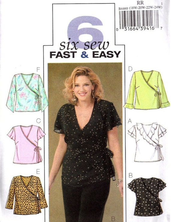 Plus Size Tops Sewing Pattern Easy Women S Wrap Top
