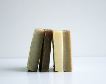 Shampoo Bar Sample Set - Natural Hair Care- 4 Shampoo Soap Samples