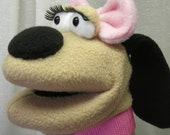 Marcy - Too Cute For Words Girly Dog Hand Puppet (moving mouth)