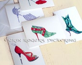 The Mrs Claus note card collection Set of 5 blank cards