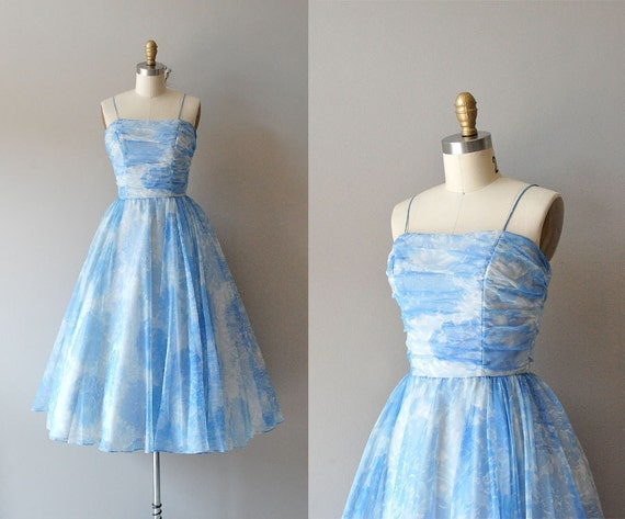 1950s dress / 50s party dress / Softer Still dress