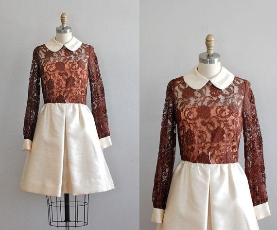 vintage 60s dress / 60s dress / lace dress / Suzette dress