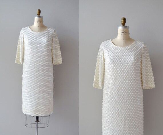 1960s dress / beaded cocktail dress / Mithril dress