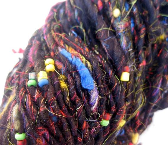 handspun art yarn, Jackson Pollock