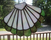 Stained Glass Fan Shell