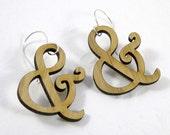 Harrington Ampersand Earrings in Bamboo