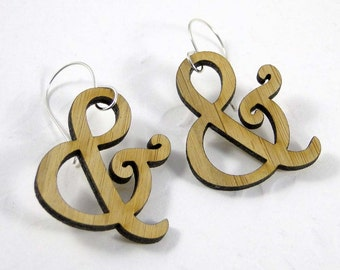 Harrington Ampersand Earrings in Bamboo