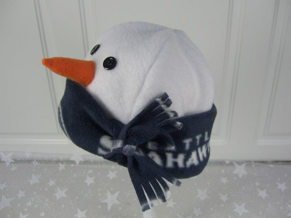 CHILD'S SNOWMAN HAT, Child's Winter Hat, Boy's Snowman Hat, Girl's Winter Hat, Seahawks Hat