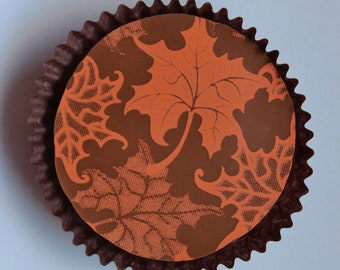 Designer MAPLE LEAVES Chocolate Covered Oreos - Birthday Gift Favor Fall Thanksgiving Halloween Autumn Party