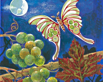Wine Whimsy: Man In The Moon Loves Wine