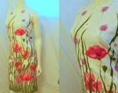 Plus Size Novelty Print Poppy Tulip Daisy Dress JOHN ABBOTT 14 16