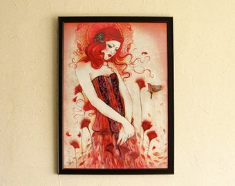 Limited Edition Print with goldleaf embellishments - Aurora 6/10