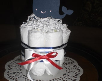 Whale Baby Shower Centerpiece Diaper Cakes other colors and sizes too