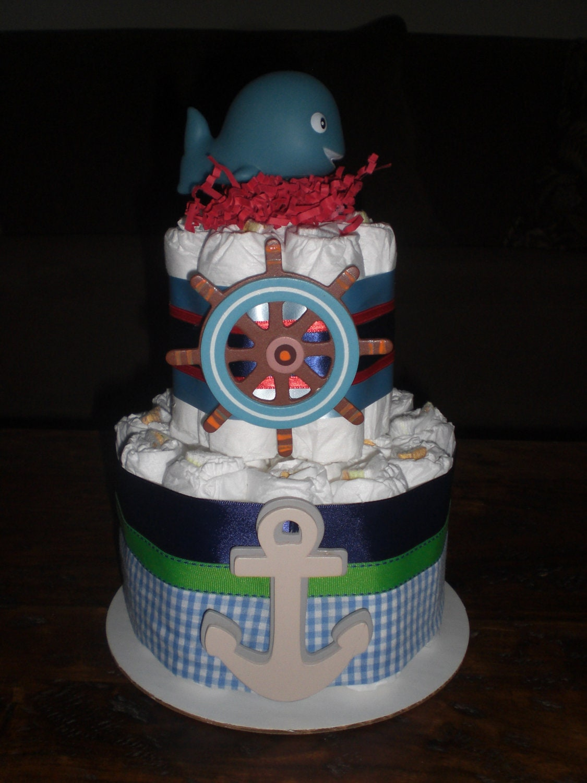 Etsy Nautical Diaper Cake