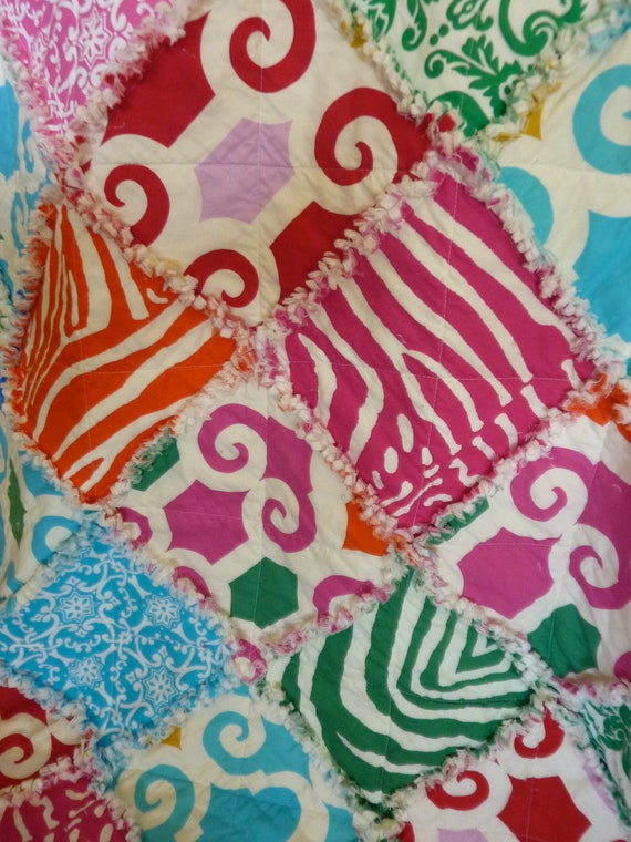 Toddler Lap Sized Rag Quilt Super Fly by Jennifer Paganelli Fabrics