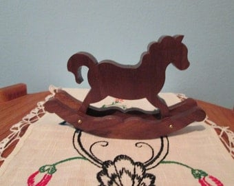 Doll house rocking horse