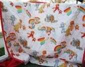 Rainbow Brite Twin Size Quilt