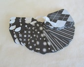 40 Large Gift Tags glittered Black White silver