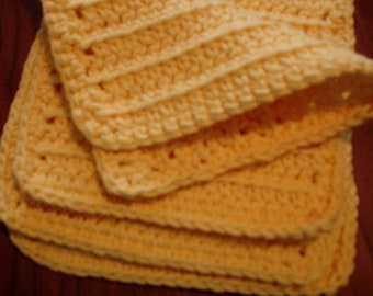 Pattern Crochet Wash Cloth, Makeup Remover Cloth, Facial Scrubbies, Dish Cloth, free download