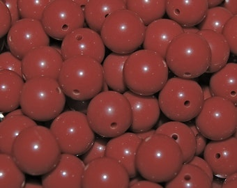 Vintage 36 Indian Red 10mm Lucite Beads N1L