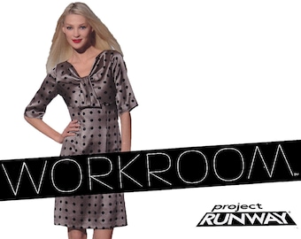 Project Runway Dress Pattern - New Look 6045 - Size 8 to Size 18 - Uncut, Factory Folds - Workroom Sewing Pattern