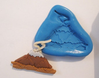 volcano Flexible Silicone Push Mold for Polymer clay, Resin,Wax,Miniature Food,Sweets plaster