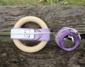 Gift Set of 2 Montessori Baby Mobiles in Lilac (Bell and Ring)