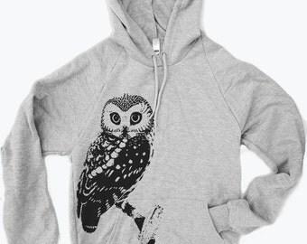 Unisex Urban OWL Fleece Classic Pullover Hoody Sweatshirt - (+ Color Options) xs s m l xl xxl