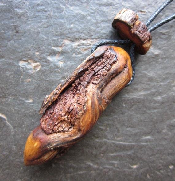 Unique Natural Wood Pendulum/Pendant/Mini Wand - Root of Rowan - Increases Psychic Powers.