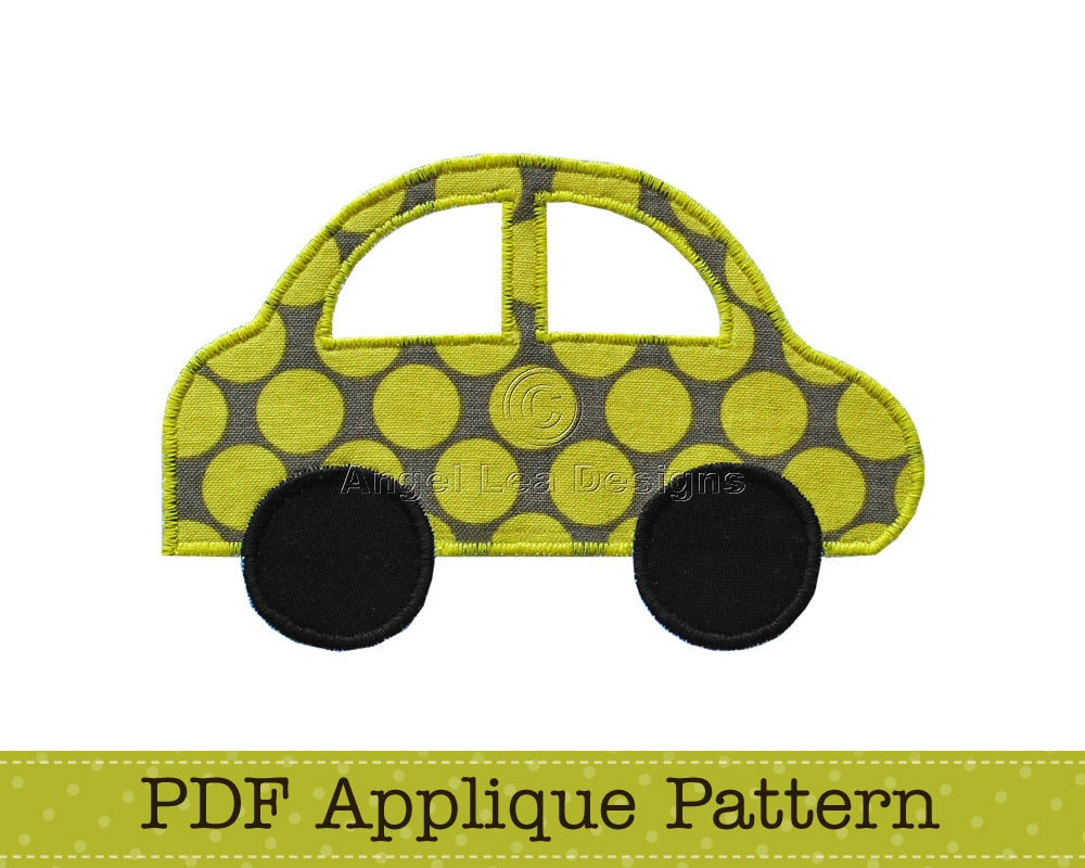 Car applique template vehicle transport diy pdf pattern by zoom pronofoot35fo Choice Image