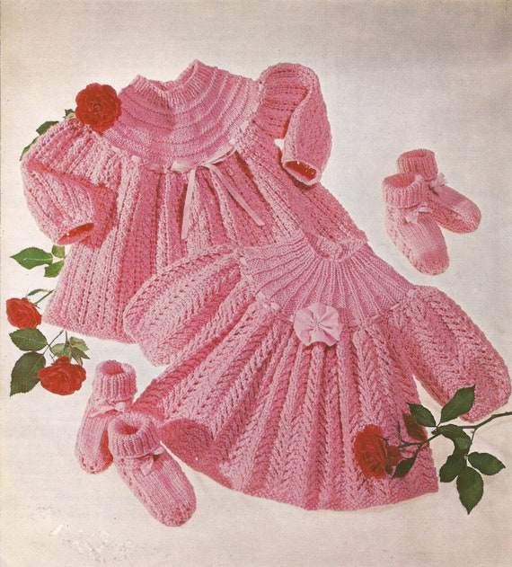 PDF Knitting Pattern Baby Knitted Angel Tops/Dress to fit ...