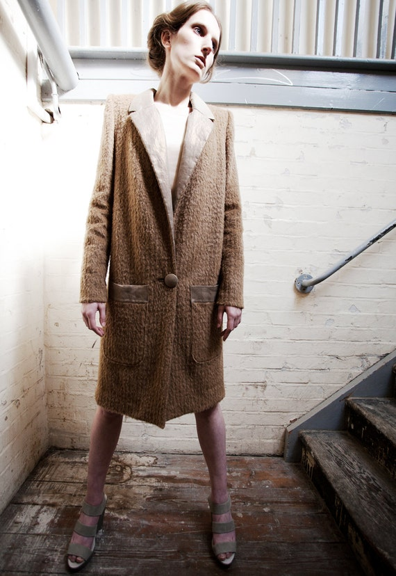 Reserved:SAMPLE SALE Ruth Fawn Mohair Long Wool Coat