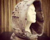 Grey Mesh Hood good for winter, desert or festivals
