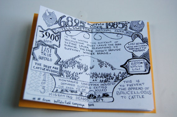 save the last buffalo ZINE - TWO Dollars Donated to the Buffalo Field Campaign