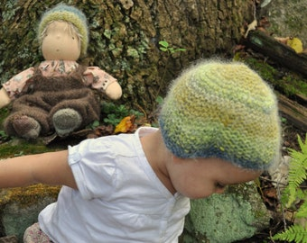 Knitting Pattern for Matching Doll and Child's Hat - Mountain Pixie & me