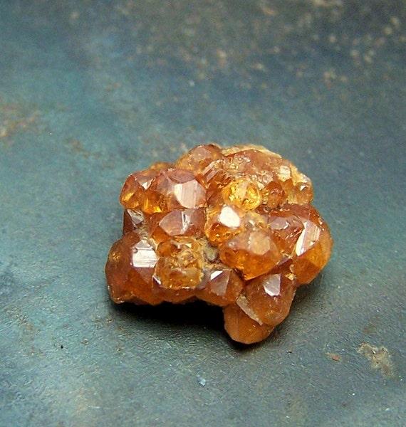 Spessartite Garnet - Orange Garnet Crystal cluster - natural - pakistan mineral - specimen - hessionite - spessartite - wire wrap crystal