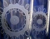 Vintage Lace Etched Pint Glasses