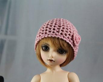 Pink Crochet Hat for Yo SD BJD, Dolls Like LittleFee