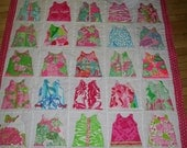 Baby Girl Shift Dress quilt made with Lilly Pulitzer fabric